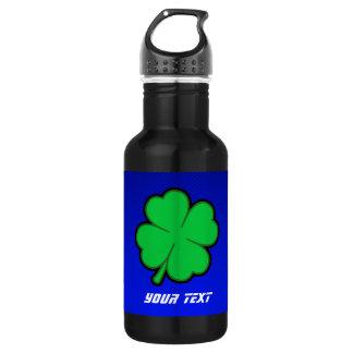 Blue 4 Leaf Clover 18oz Water Bottle
