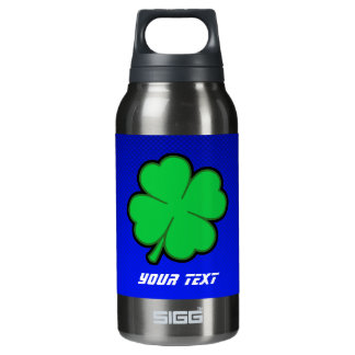 Blue 4 Leaf Clover 10 Oz Insulated SIGG Thermos Water Bottle