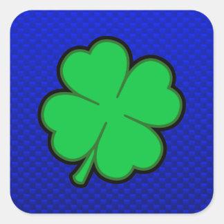 Blue 4 Leaf Clover Sticker