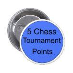 blue 5 tournament points 2 inch round button