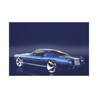 Blue '66 Mustang Canvas Print