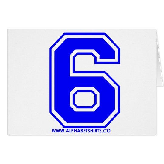 Blue 6 card