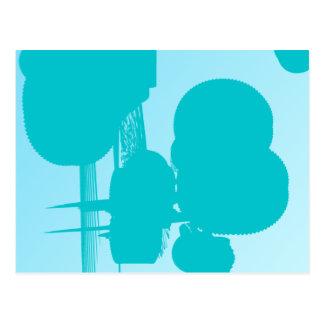blue 7748 abstract art postcard
