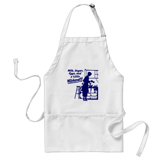 "Blue ""A LITTLE WITCHCRAFT"" Apron"