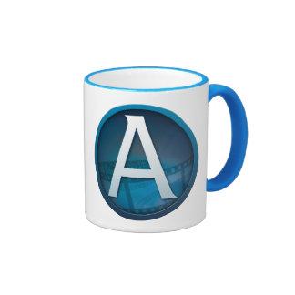 Blue A - Ringer Mug