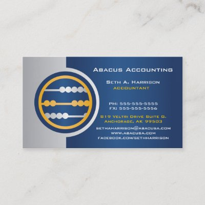 Abacus accounting business cards zazzle reheart Images