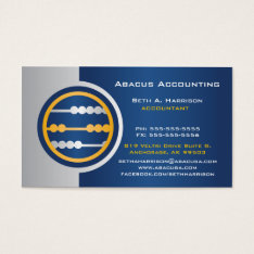 Blue Abacus Accounting Business Cards at Zazzle