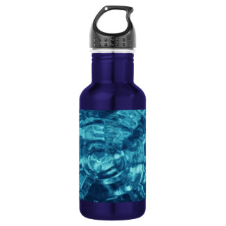Blue Abstract 18oz Water Bottle