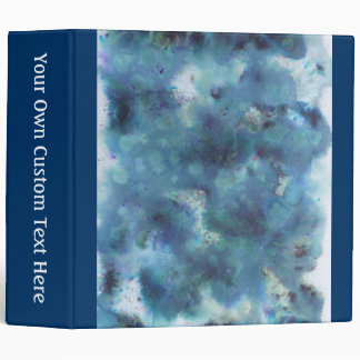 Blue Abstract. 3 Ring Binder