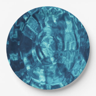 Blue Abstract 9 Inch Paper Plate