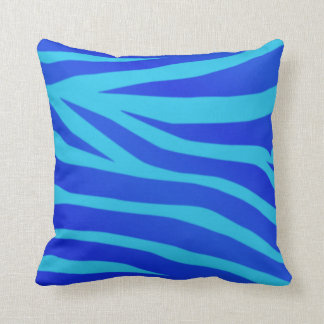 Blue Abstract acrylic painting Throw Pillow