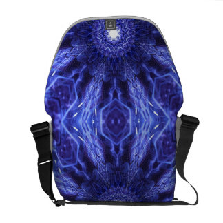 Blue Abstract Ancient Art Courier Bag