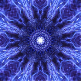Blue Abstract Ancient Art Cutout