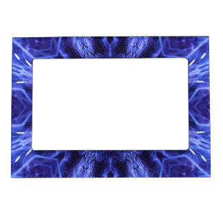 Blue Abstract Ancient Art Magnetic Photo Frame