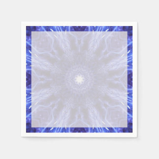 Blue Abstract Ancient Art Napkin