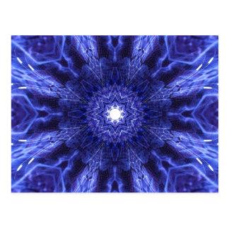 Blue Abstract Ancient Art Postcard
