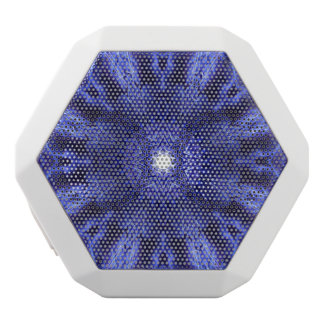 Blue Abstract Ancient Art White Bluetooth Speaker