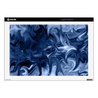 "blue abstract art 17laptop skin sleeve decals for 17"" laptops"