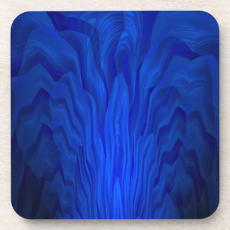 Blue Abstract Art Beverage Coaster