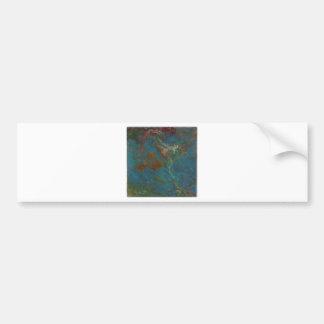Blue abstract art bumper sticker