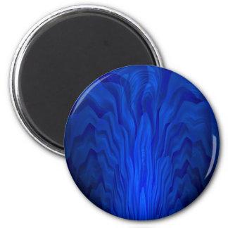 Blue Abstract Art Magnet