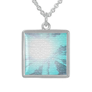Blue Abstract Art Necklace by Haydee Rodriguez