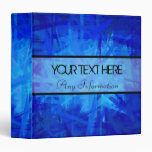 Blue Abstract Art Painting Binders