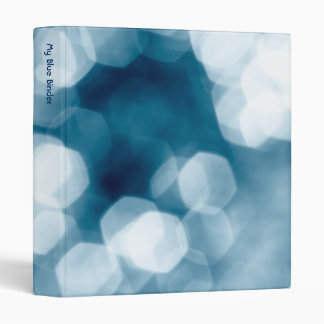 Blue abstract background 3 ring binder