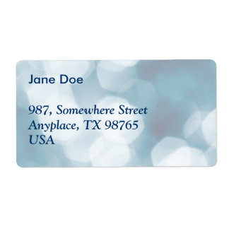 Blue abstract background label