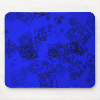 Blue abstract background mouse pad