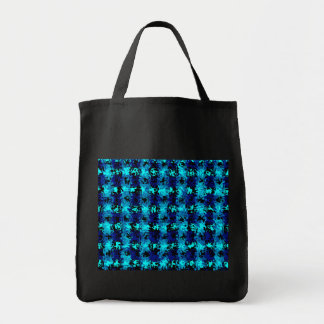 Blue Abstract Canvas Bag
