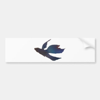 Blue Abstract Betta Fish Car Bumper Sticker