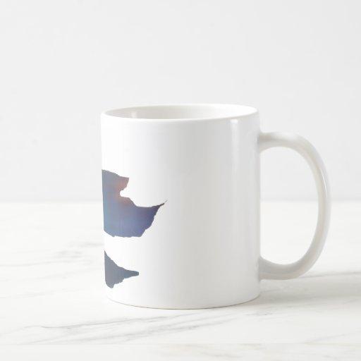 Blue Abstract Betta Fish Coffee Mug
