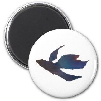 Blue Abstract Betta Fish Magnet