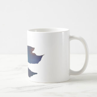 Blue Abstract Betta Fish Coffee Mug