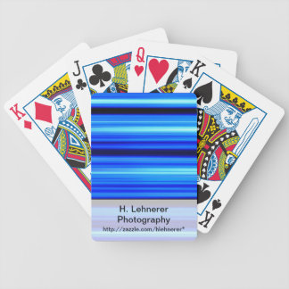 Blue Abstract Bicycle Playing Cards