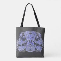 Blue abstract blue shoulder bag