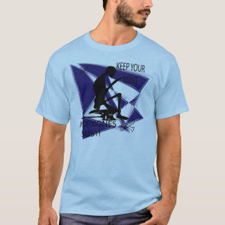 BLUE ABSTRACT BONES T-Shirt