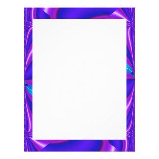 blue abstract border letterhead