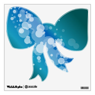 Blue Abstract Bubble bow Wall Sticker