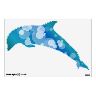 Blue Abstract Bubble - Dolphin Wall Decal