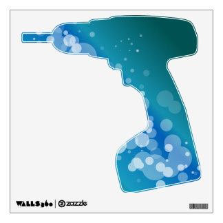 Blue Abstract Bubble Drill Wall Sticker