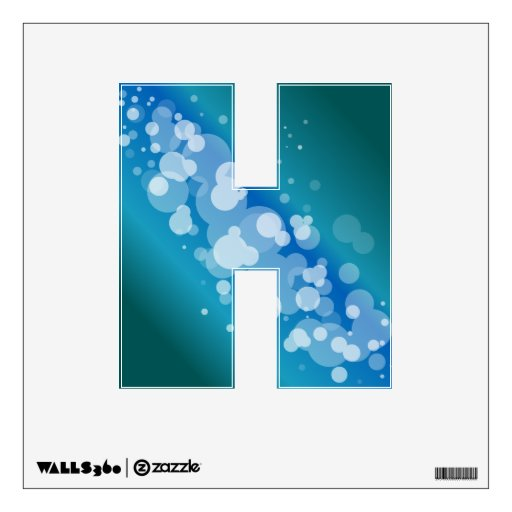 Blue Abstract Bubble - H Room Graphic