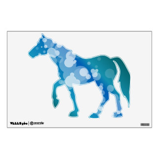 Blue Abstract Bubble - Horse Wall Decal