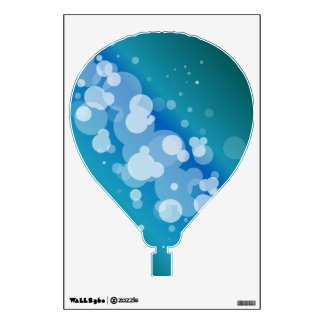 Blue Abstract Bubble Hot Air Balloon Wall Decal