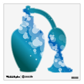 Blue Abstract Bubble Perfume Wall Sticker