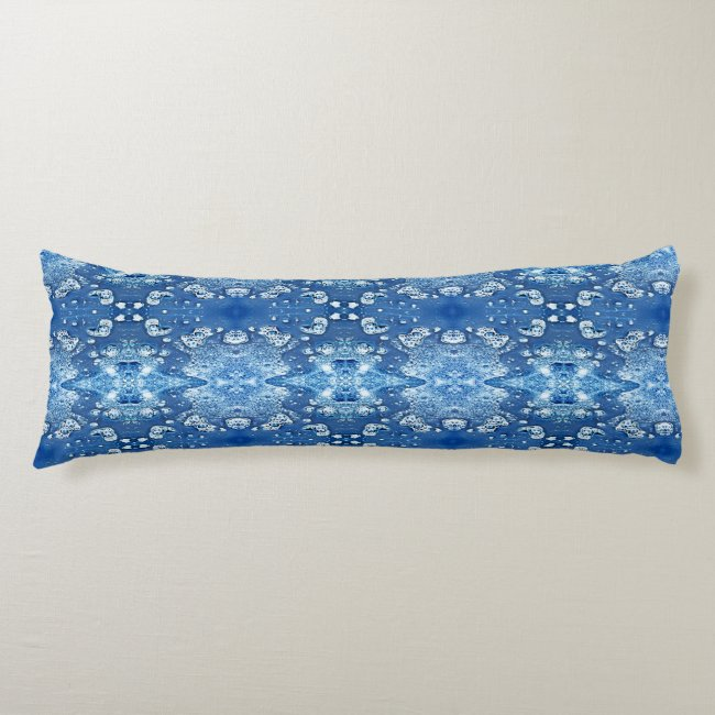 Blue Abstract Bubbles Water and Ice Body Pillow