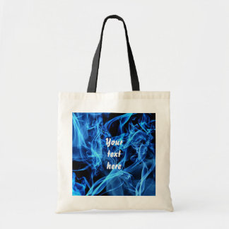 Blue Abstract Budget Tote Bag