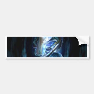 Blue Abstract Bumper Sticker