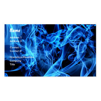 Blue Abstract Double-Sided Standard Business Cards (Pack Of 100)